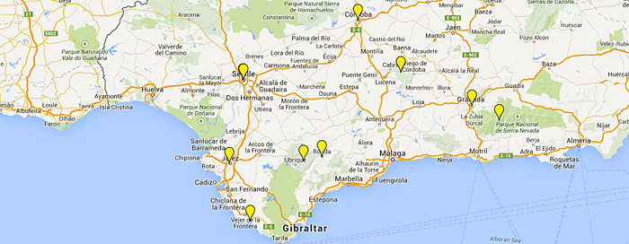 Moron Spain Map.Andalucia Tours Guided Tours In Spain From Fresco Tours